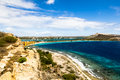 Beaches of curacao this one is at caracasbai Royalty Free Stock Photography