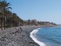 Beaches of tenerife spain black Stock Photography