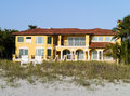 Beachfront Real Estate House Royalty Free Stock Photo