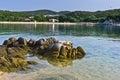 Beachscape at Aegean sea, Destenika beach, Sithonia