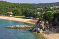 Beachscape of Destenika beach in Sithonia Royalty Free Stock Photo