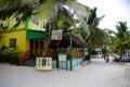 Beachside Wild Mango's restaurant in San Pedro, Ambergris Caye, Belize Royalty Free Stock Photo