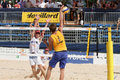 BeachVolley - Lausanne Satellite CEV 2012 Royalty Free Stock Photos
