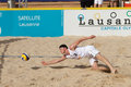 BeachVolley - Lausanne Satellite CEV 2012 Stock Photos