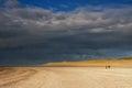 Beachwalk on the Maasvlaktestrand Royalty Free Stock Photo