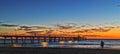 Beachwalk during sunset Royalty Free Stock Photo