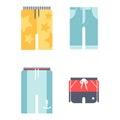 Beachwear bikini cloth fashion looks vacation lifestyle men collection sea light beauty clothes vector illustraton Royalty Free Stock Photo