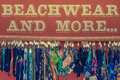 Beachwear for sale mens and ladies on in a shop in touristic part of gran canaria Stock Images