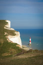 Beachy head belle tout lighthouse seven sisters eastbourne east sussex uk Royalty Free Stock Photography