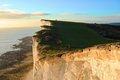 Beachy head cliff the in eastbourne uk Stock Images