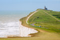 Beachy head east sussex england uk chalk cliff at near eastbourne Royalty Free Stock Photography