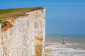 Beachy head east sussex england uk chalk cliff at near eastbourne Royalty Free Stock Image
