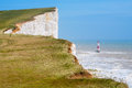 Beachy head east sussex england uk chalk cliff at near eastbourne Stock Photography