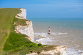 Beachy head east sussex england uk chalk cliffs at near eastbourne Royalty Free Stock Photos