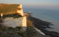 Beachy head uk england nature of the the strait of le mans the journey to misty landscape nature Stock Photo