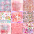 Beachy Tropical Bohemian Tapestry Scrapbook Background Stock Photography