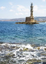 Beacon in hanya the island of crete greece june Stock Photo