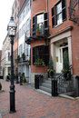 Beacon hill boston is a wealthy neighborhood of federal style rowhouses with some of the highest property values in the united Stock Image