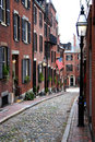 Beacon hill boston is a wealthy neighborhood of federal style rowhouses with some of the highest property values in the united Royalty Free Stock Photo