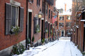 Beacon hill boston is a wealthy neighborhood of federal style rowhouses with some of the highest property values in the united Stock Photo