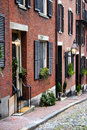 Beacon hill boston is a wealthy neighborhood of federal style rowhouses with some of the highest property values in the united Royalty Free Stock Photography