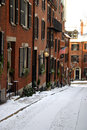 Beacon hill boston is a wealthy neighborhood of federal style rowhouses with some of the highest property values in the united Stock Images