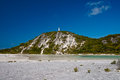 Beacon hill landscape image of on stocking island near george town exuma bahamas green landscape on small limestone that has Stock Photo
