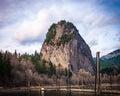 Beacon Rock Royalty Free Stock Photo