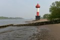 Beacon at the weser river Royalty Free Stock Images