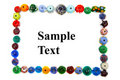 Bead border Stock Photography