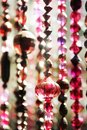 Bead curtains in Moroccan style Royalty Free Stock Photo