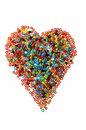 Bead heart Stock Photography
