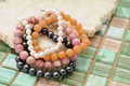 Beaded bracelets fashion jewelry Stock Photo