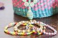 Beaded bracelets Royalty Free Stock Photo