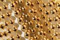 Beaded garland decor photo of shining golden Stock Image