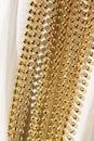 Beaded garland decor photo of shining golden Royalty Free Stock Photography