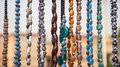 Beaded garland garlands on sale at a shop in public places Royalty Free Stock Image