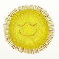 Beaded sun Royalty Free Stock Photos