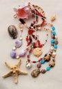Beading Treasures from the Sea Royalty Free Stock Photos