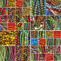 Beads collage Royalty Free Stock Image