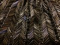 Beads grey bugle stitched in a chevron pattern Stock Image