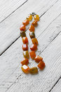 Beads from natural semiprecious stone agate