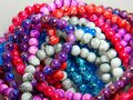 Beads and colored pearls to assemble jewelry Royalty Free Stock Photo