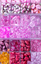 Beads and stones in boxes Royalty Free Stock Image
