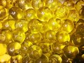 Beads transparent color yellow trend Royalty Free Stock Image