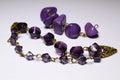 Beads violeten Royaltyfria Foton