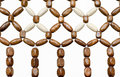 Beads wood bead curtain closeup Royalty Free Stock Photos