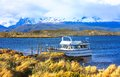 Beagle channel the is a strait in the archipelago island chain of tierra del fuego on the extreme southern tip of south america Royalty Free Stock Photography