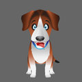 Beagle dog facing forward cartoon illustration of a Stock Photography