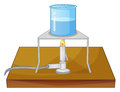 Beaker and burner illustration of a a Royalty Free Stock Images